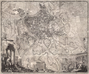 1748 Nolli Map of Rome - Original Color, Wall Covering