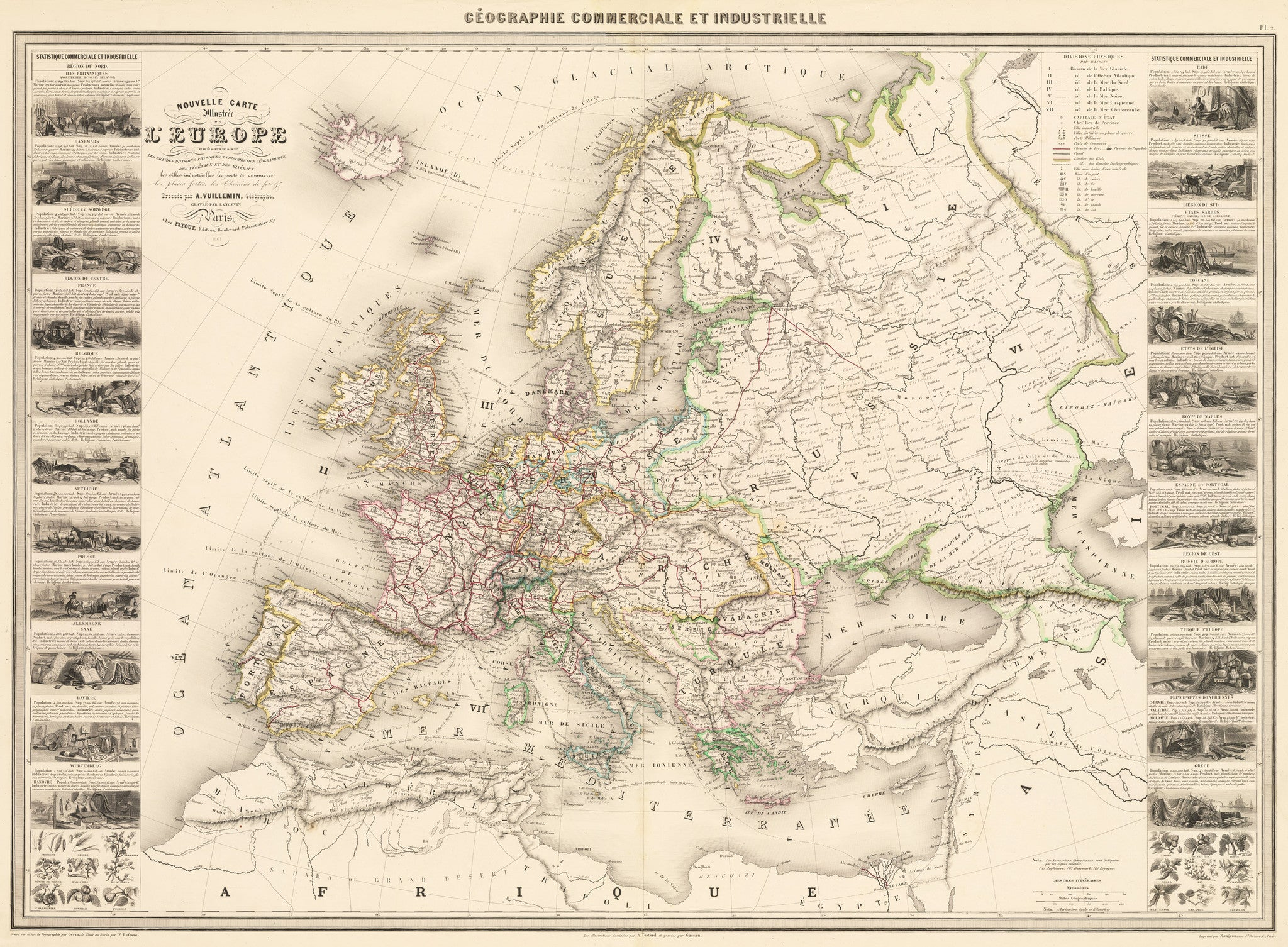 Carte Europe Maps.Vintage Maps Of Europe Tagged 19th Century The Vintage