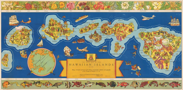 1937 The Dole Map of the Hawaiian Islands