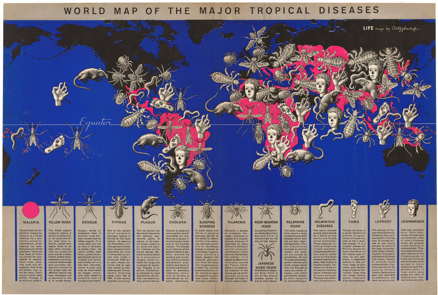 1944 World Map of Major Tropical Diseases