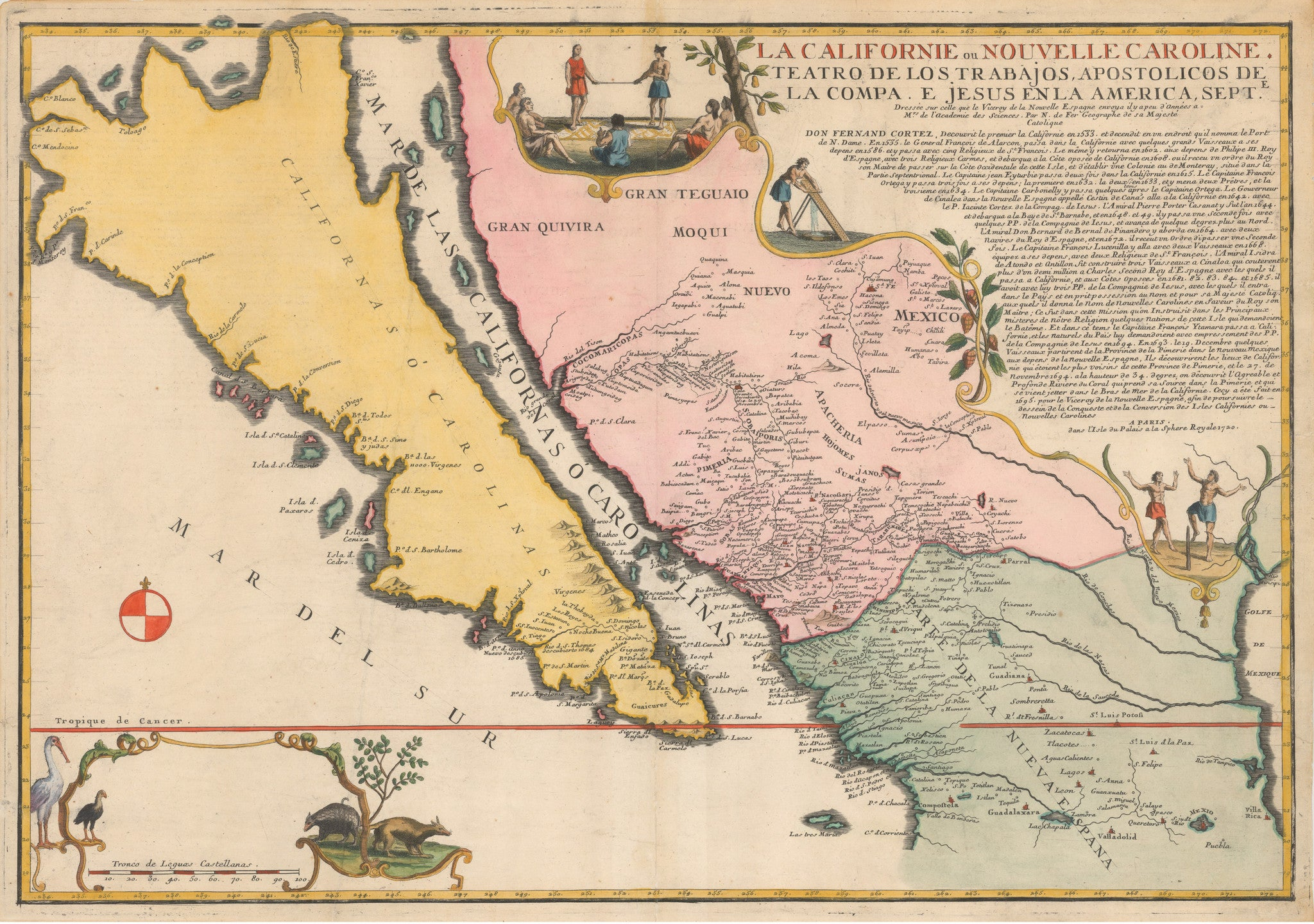 Map Of California As An Island By De Fer 1720 Thevintagemapshop - Us-map-la