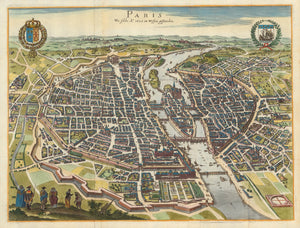 1655 Vintage Map of Paris