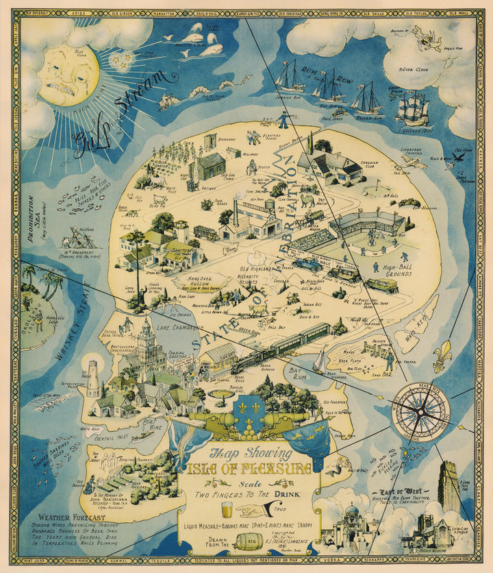 Map Showing Isle of Pleasure by: H.J. Lawrence, 1931