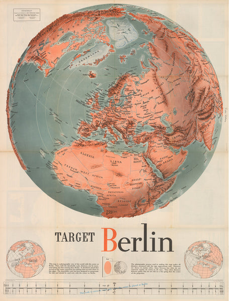 Vintage eastern hemisphere maps the vintage map shop inc 1943 target berlin gumiabroncs Image collections