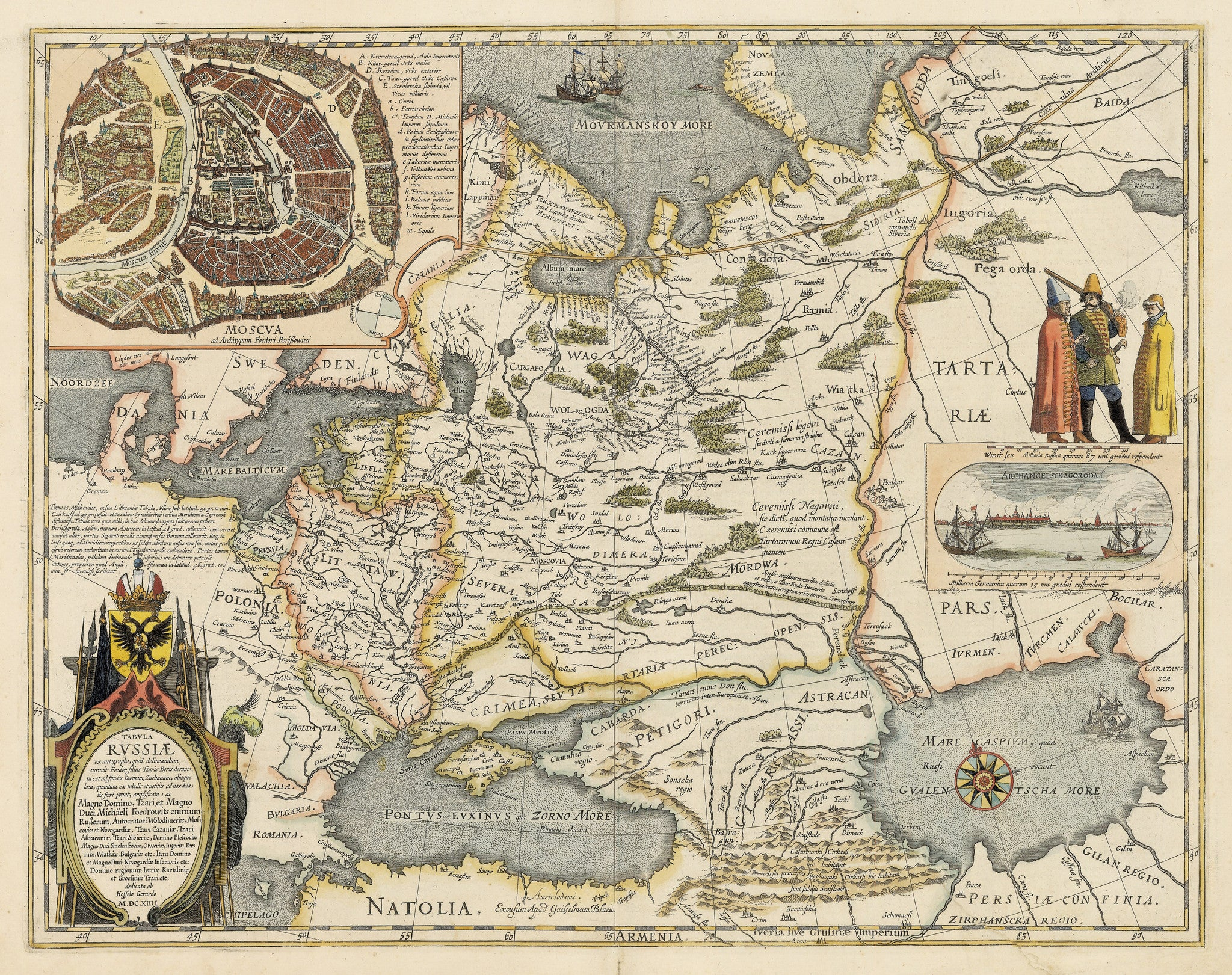 Map Of Russia Moscow By Blaeu Thevintagemapshop Com The