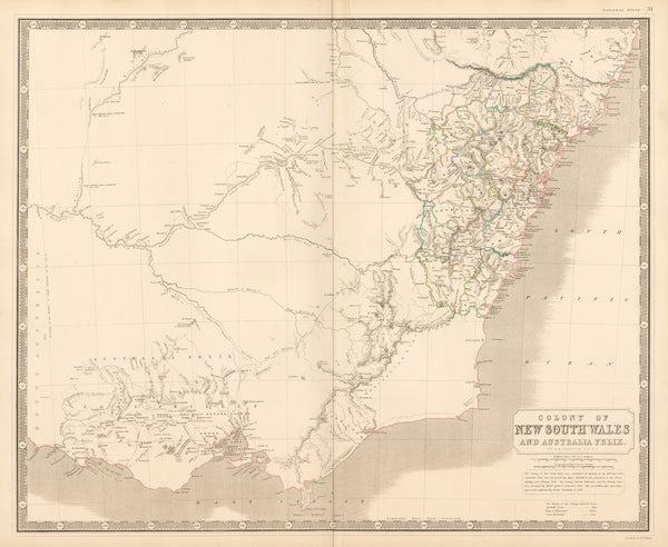 Colony of New South Wales and Australia Felix.
