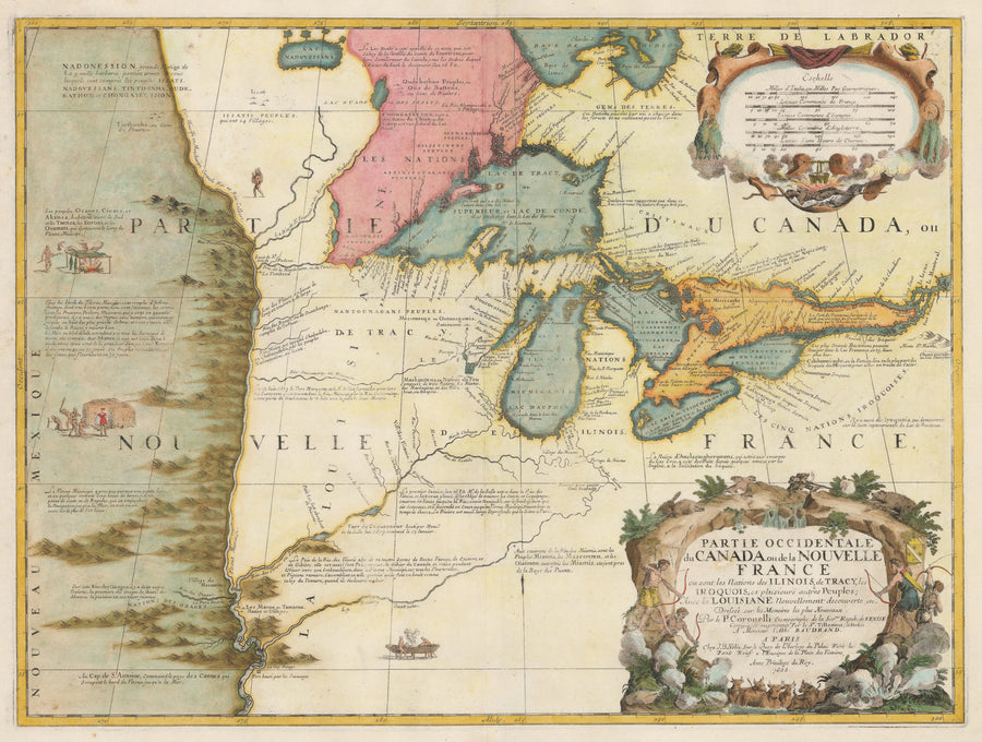 1688 Partie Occidentale du Canada ou de la Nouvelle France...