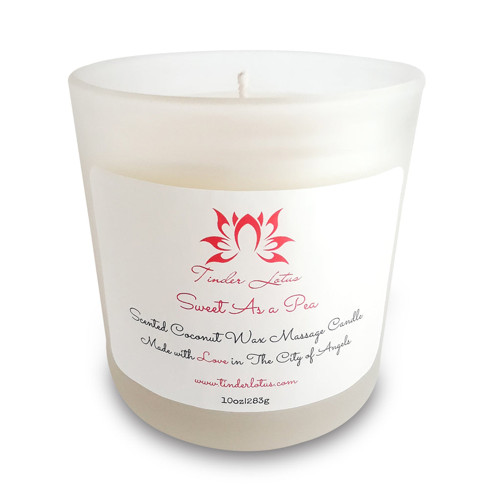 Sweet As a Pea Scented Coconut Wax Massage Candle