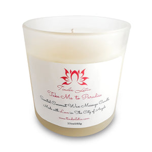 Take Me To Paradise Scented Coconut Wax Massage Candle