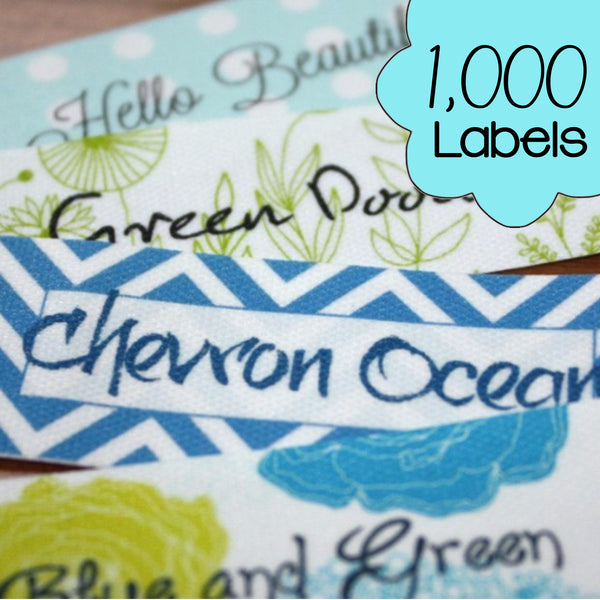 1000 Custom Printed Poly Cotton Labels
