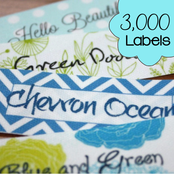 3000 Custom Printed Poly Cotton Labels