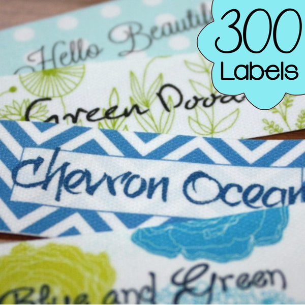 300 Custom Printed Poly Cotton Labels
