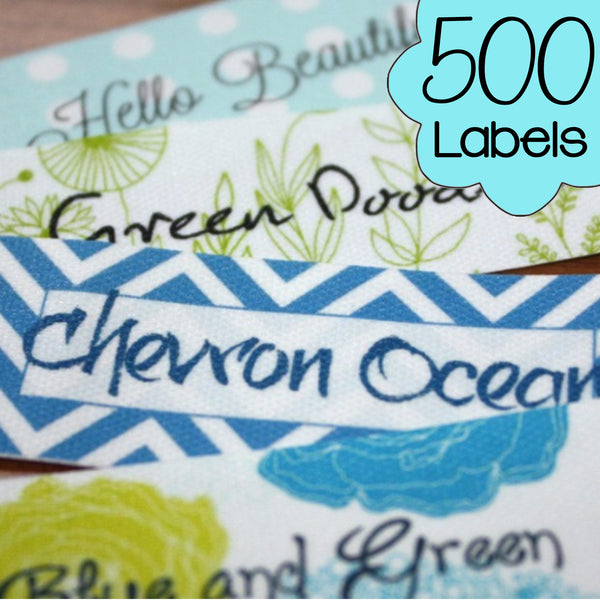 500 Custom Printed Poly Cotton Labels