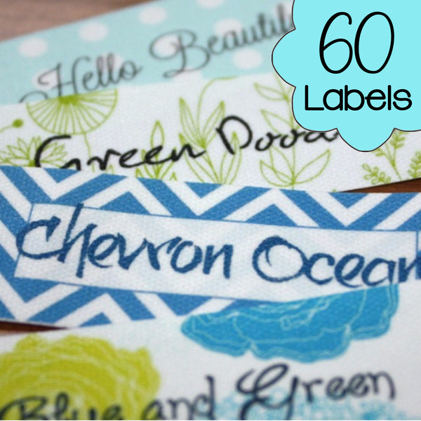 60 Custom Printed Poly Cotton Labels