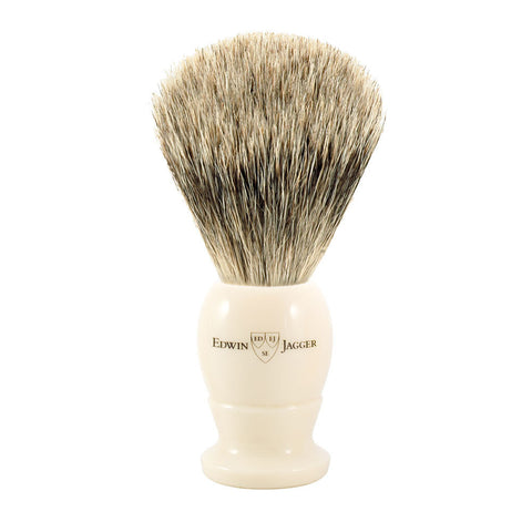 Edwin Jagger English Shaving Brush Best Badger Ivory Handle 1EJ877