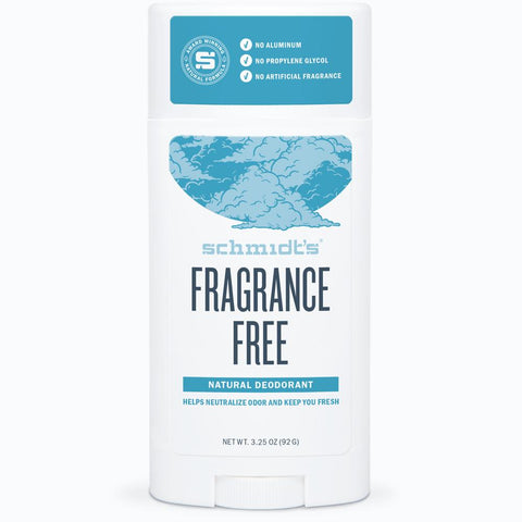 Schmidt's Fragrance Free Natural Deodorant 3.25oz