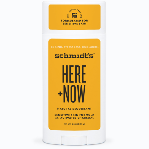Schmidt's Justin Bieber Here+Now Natural Deodorant Sensitive Skin 3.25oz