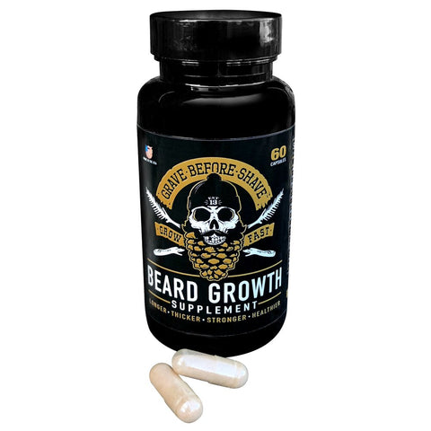 Grave Before Shave Beard Growth Supplement 60 capsules