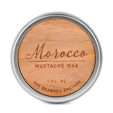 The Bearded Bastard Morocco Mustache Wax 1oz