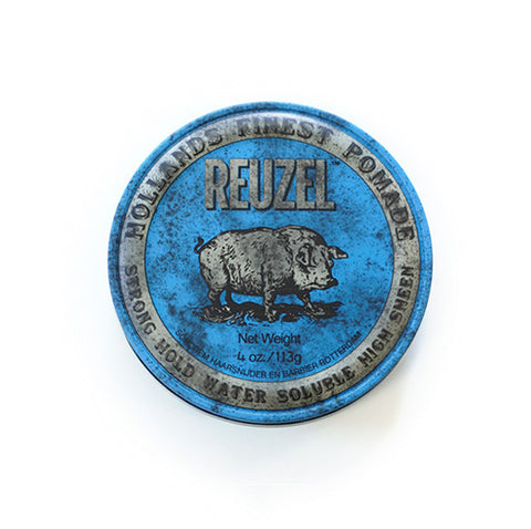 Reuzel Blue Strong Hold High Sheen Pomade 4oz