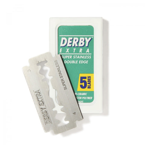 Derby Super Extra Double Edge Stainless Steel Razor Blades 5-pack