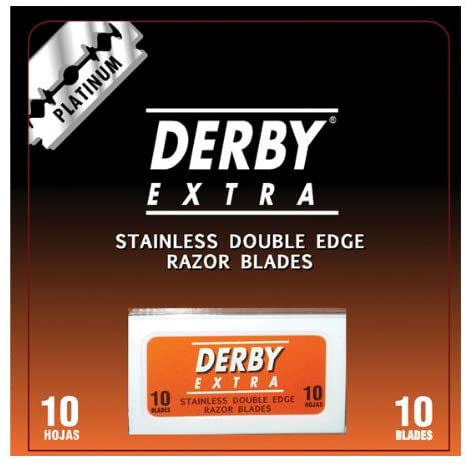Derby Platinum Double Edge Razor Blades 10-pack