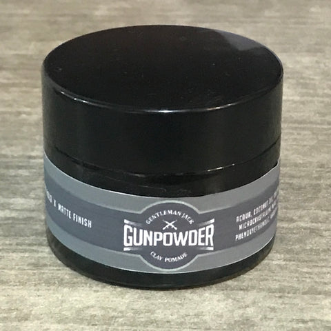 Gentleman Jack Gunpowder Clay Pomade Travel Size 50g