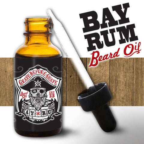 Grave Before Shave Bay Rum Beard Oil 1oz