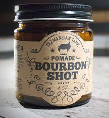 Tazmaneian Tame Bourbon Shot Pomade Oil Based Heavy Hold 4oz