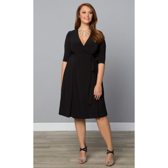 Perfect Trendy plus sizes Cocktail Wrap Dress