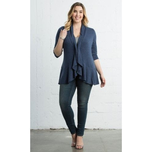 Trend Essential  Plus Sizes, Outerwear & Jackets + Cardigan Trendy Love Story plus sizes