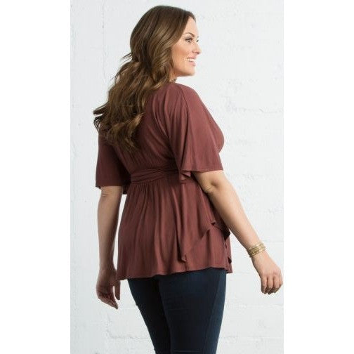 Allow Sleeves Trendy Promenade Top