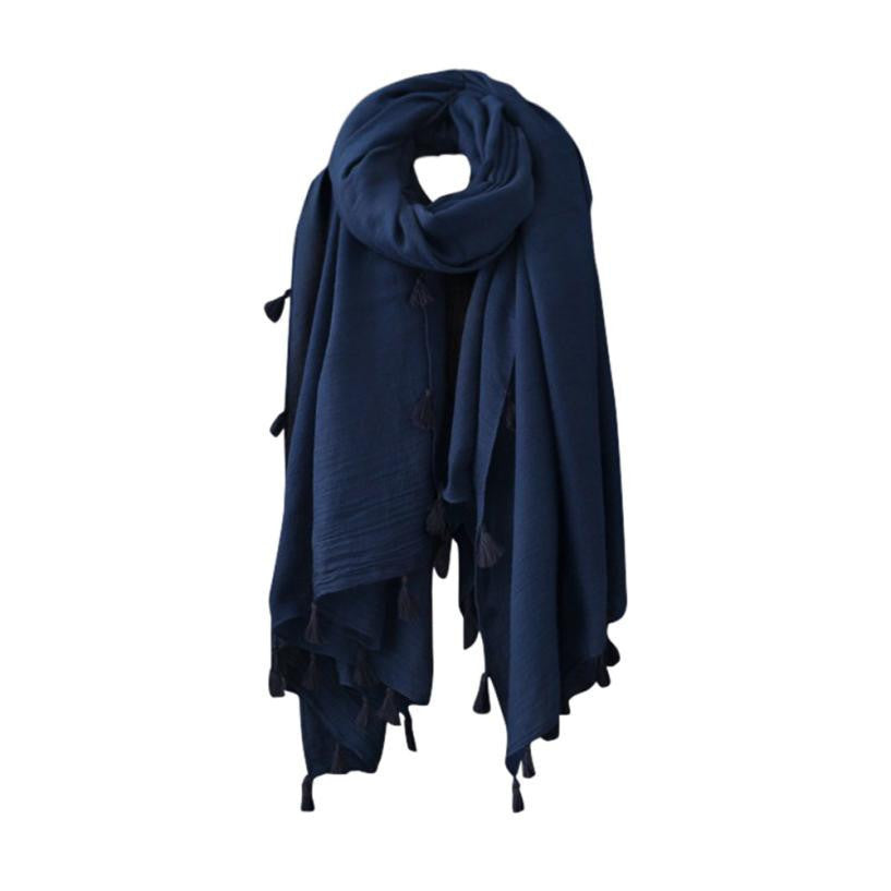 Oberlo Fashion Scarf blue Fashion Woolen Scarf Long Large Scarf Wrap 3 Colors