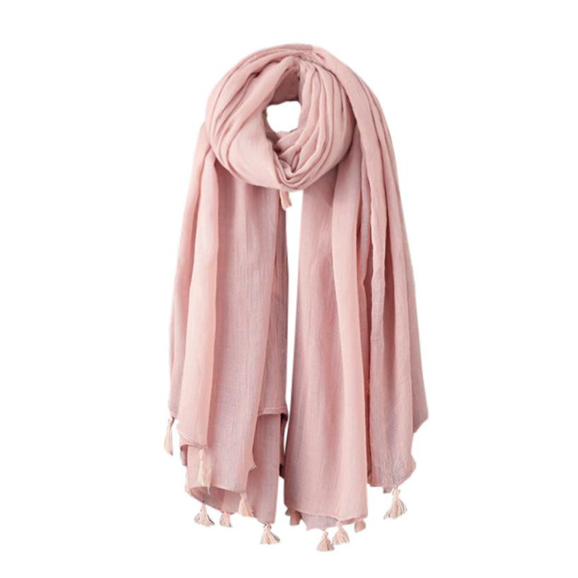 Oberlo Fashion Scarf pink Fashion Woolen Scarf Long Large Scarf Wrap 3 Colors