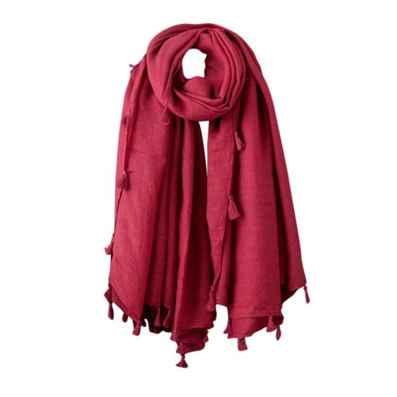 Oberlo Fashion Scarf red Fashion Woolen Scarf Long Large Scarf Wrap 3 Colors