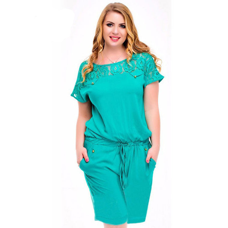 Oberlo Rompers/Jumpsuit Trendy Summer Style Plus Size Rompers/Jumpsuit loose