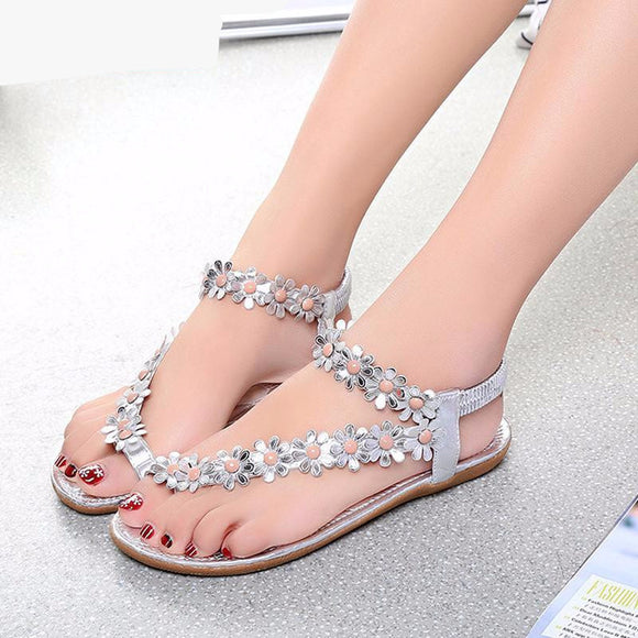 Oberlo women shoes White / 5 Trendy Summer Sandals  Style Bling Bowtie Fashion Peep Toe Shoes Flat Shoes