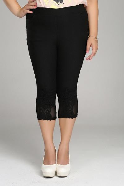 Trendy Elastic Waist Leisure Pants