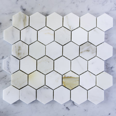 CALACATTA GOLD / HEXAGON 50MM