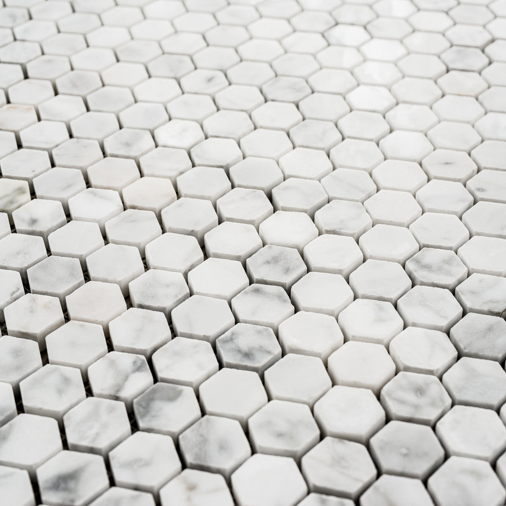 CARRARA / HEXAGON 25MM