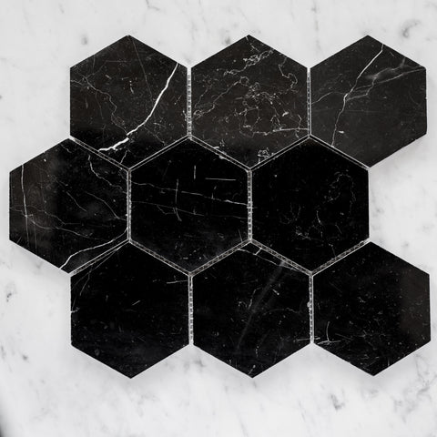NERO MARQUINA / HEXAGON 110MM