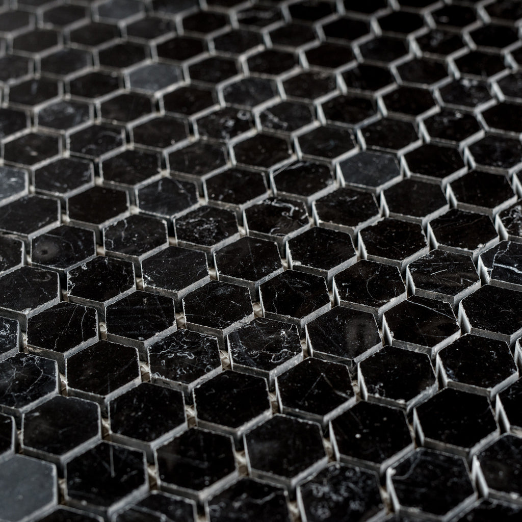 NERO MARQUINA / HEXAGON 25MM