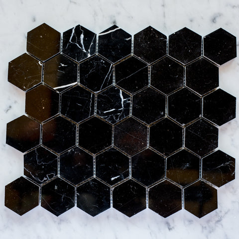 NERO MARQUINA / HEXAGON 50MM