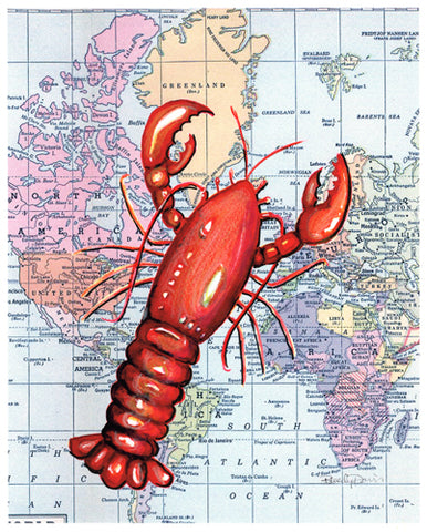 Lobster on Map