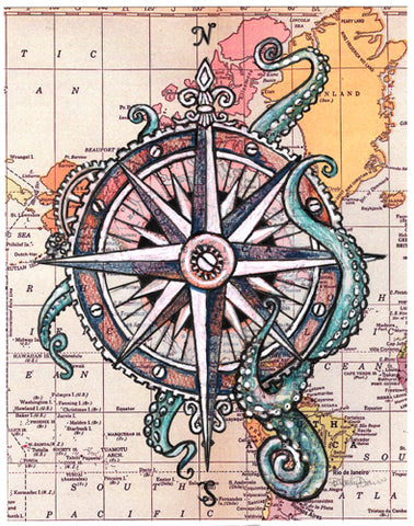 Octopus Compass Rose