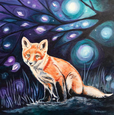 Starry Night Fox