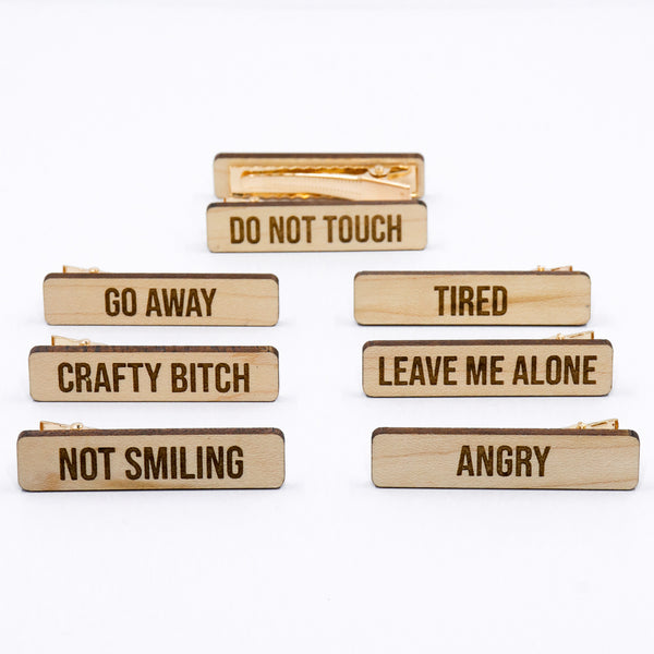 Feminist Hair Clip Set - Choose Your Saying