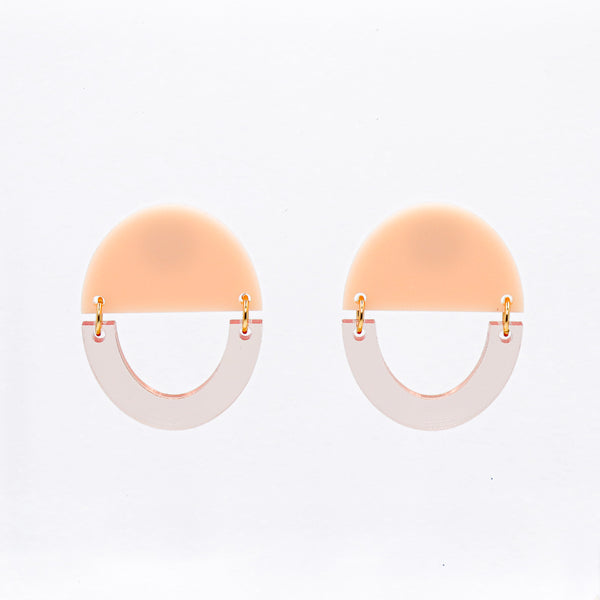 Some Kind of Wonderful Earrings - Transparent Rose Gold & Peach