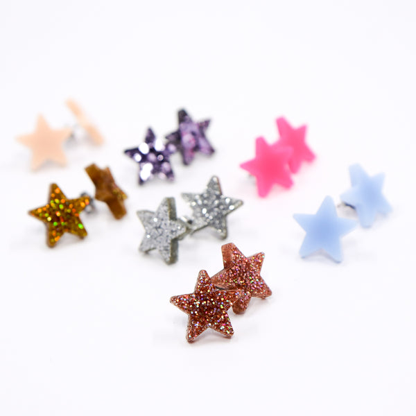 Tiny Star Stud Earrings - Loads of Colors