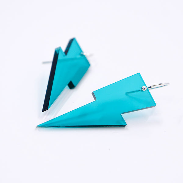 Hanging Lightning Bolt Earrings - Loads of Colors